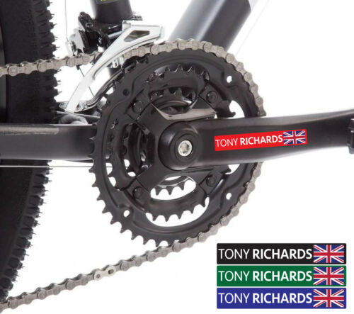 8x Personalised Name /& Flag Cycling Helmet Frame Bike Stcikers 10mm FREE POSTAGE
