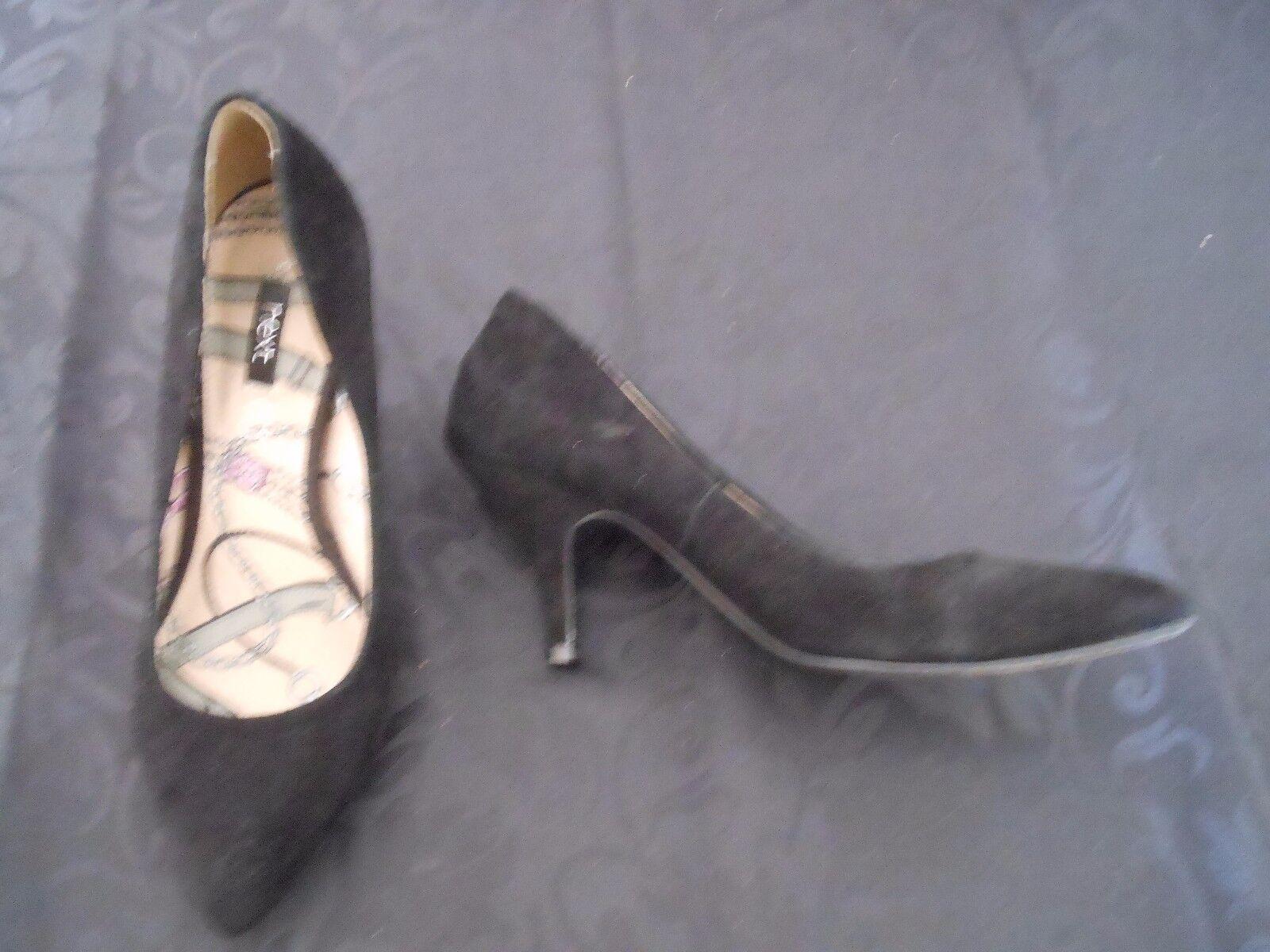 Ladies NEXT black ( suede leather court shoes size 5 ( black Euro 38) fd1b75