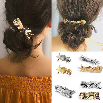 Womens Korean Style Acrylic Rhinestone Mother Daughter Starfish Large Hair Claw