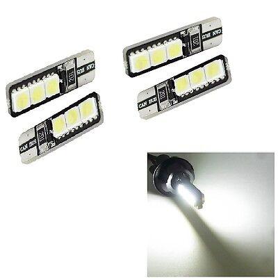 4STÜCK LED Canbus T10 194 168 W5W 5050 6 SMD Auto-Seiten-Keil-Glühlampe weiß