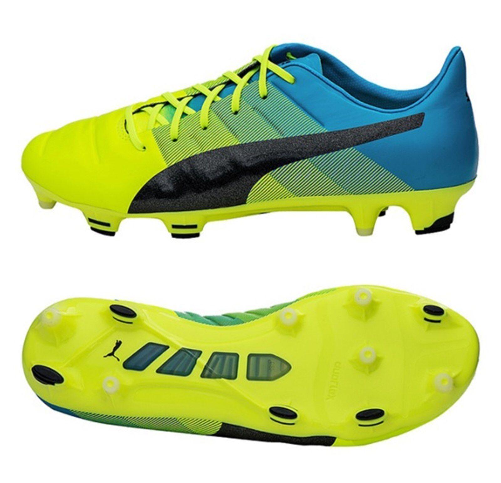 PUMA Men evo-POWER FG 1.3 FG evo-POWER Cleats Gelb Soccer Football Schuhes Spike 103524-01 b51aae