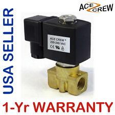 VITON 3/8 inch 220V-240V AC Brass Solenoid Valve NPT Gas Water Air 1-Yr WARRANTY