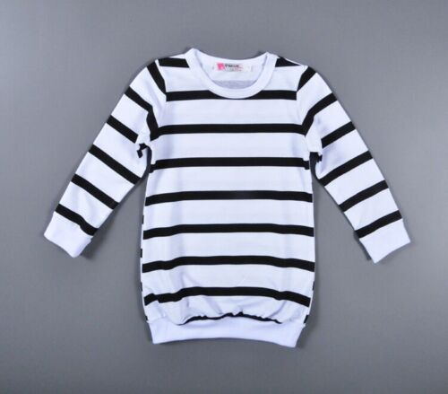 2PCS Toddler Kids Baby Girls Outfits Long Sleeve stripe Tops Pants Clothes Set
