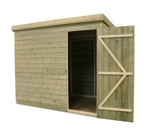 5x3 Garden Shed Shiplap Pent Roof Tanalised Door Right Ebay