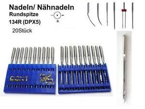 Nadeln 134 R, DPX5, 110er für Nähmaschine 20 Nähnadeln