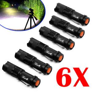 6Pcs-Ultrafire-Mini-8000LM-T6-LED-Adjustable-Zoomable-Flashlight-Torch-Light-USA
