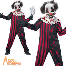 Boys Killer Klown Costume Child Scary Evil Clown Halloween Kids Fancy Dress