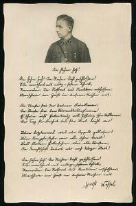 1935-Germany-3rd-Reich-Postcard-German-WWII-Hitler-SA-Stormtrooper-Leader-Wessel