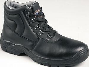 seguridad de Calzado Chukka S1p Negro 9556 Tuffking Puntera Botas de acero trabajo de Bota awnpfqz
