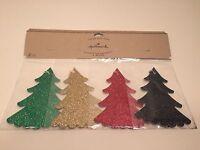Hallmark Christmas Tie-on Gift Tags Glitter Trees 4 Count