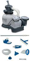Intex 2100 Gph Krystal Clear Sand Filter Pool Pump W/ Deluxe Maintenance Kit on sale