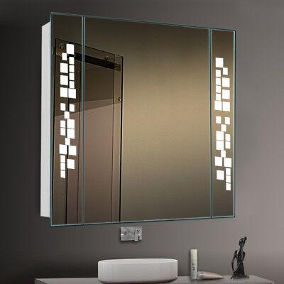 Home Garden Led Bathroom Mirror, Bathroom Mirror Cabinet With Shaver Socket