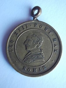 Medal-Pope-Leo-XIII-From-1888-10-Years-Pontificate-Vatican-0-25-32in-Pendant