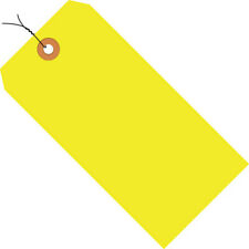 6 14 X 3 18 Yellow Shipping Tags Pre Wired 13 Pt 1000case