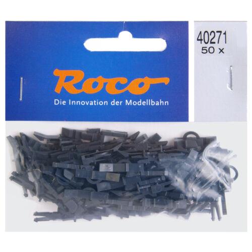 50 pièces + ROCO 40271 h0 kupplungskopf avec vorentkupplung NOUVEAU /& NEUF dans sa boîte +