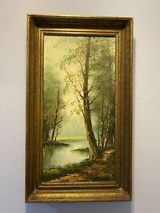 K Wilson Oil Painting 24 X 12 Ebay
