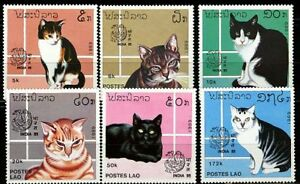 Laos-1989-034-J0102-Cats-034-No-1124-9-MNH