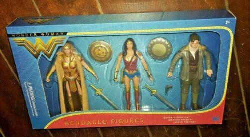 QUEEN HIPPOLYTA WONDER WOMAN /& STEVE TREVOR Bendable Figures! DC Wonder Woman