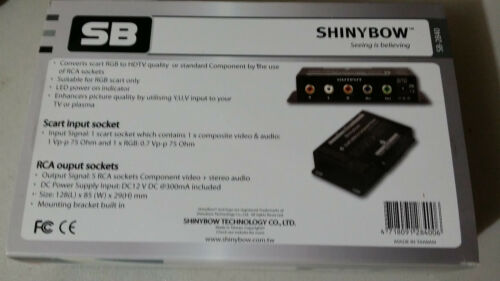 Shinybow SCART-RGB to HDTV Component Video 5-RCA with Audio Converter Transcoder