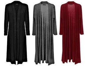 New-Women-Long-Sleeve-Cardigan-Length-Boyfriend-Maxi-Cardigan-Plus-Size-UK-8-26