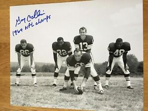 Browns Gary Collins signed 8x10 W/COA