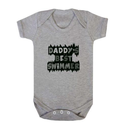 Daddy/'s Best Swimmer Infant Toddler Baby Cotton Bodysuit One Piece
