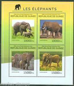 Guinee-2014-elephants-FEUILLE-Comme-neuf-NH