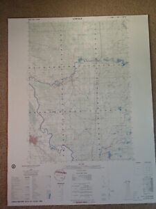 Large-28x22-1985-Topo-Map-Lowville-New-York-Black-River-New-Bremen-Croghan