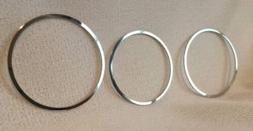 D Audi 80 90 B4 Chrom Ringe für Zusatzarmaturen Edelstahl poliert