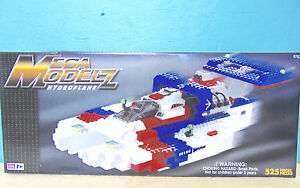 Huge Mega Bloks mega model Z hydroplane 9753 new in original box unopened rare