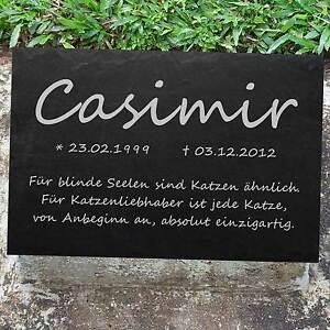 Chat poème votre texte cat-001 urne animale pierre tombale des animaux pierre commémorative 40x25 cm