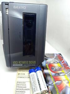 Sanyo-M-1119-Standard-Cassette-Voice-Recorder-Dictaphone-Dictation-Tape-Machine