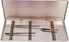 "Andrew Mack Metal Spring Coil Pinstriping Paint Brush Box 5"" x 14"" Createx Kafka"
