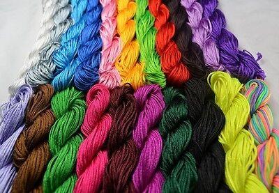 1Roll 1mm Nylon Cord Thread Chinese Knot Macrame Shamballa Bracelet String