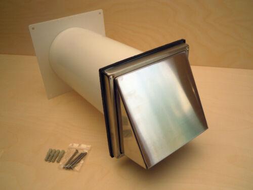 2 Fascette DETRAZIONE 150er muro cassetta in acciaio inox cappa di ventilazione con 3m aria di scarico tubo