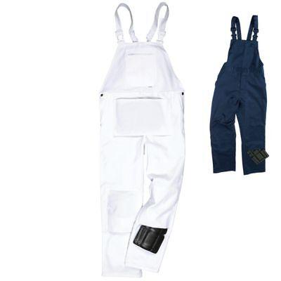 100/% Cotton Work Trousers Bib and Brace Pants Overalls Multi Pocket Decorators