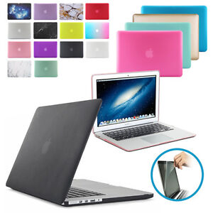 Rubberized-Hardshell-Hard-Case-Cover-with-Screen-Protector-for-Apple-MacBook