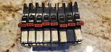 8 Circuit Breakers Federal Pacific Fpe Challenger 20 Amp 1 Pole Stab Lok Slim
