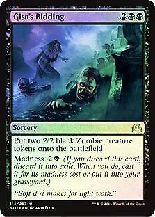 Gisa/'s Bidding FOIL Shadows over Innistrad NM-M Black Uncommon MTG CARD ABUGames
