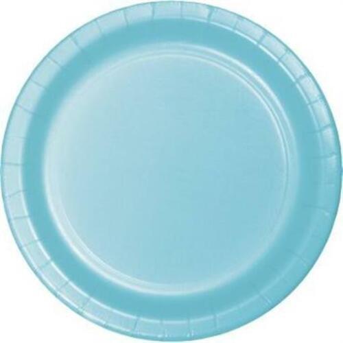 """Pastel Blue 9/"""" Paper Plates 24 Per Pack Blue Decorations /& Party Supplies"""