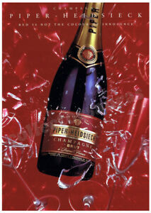 PIPER HEIDSIECK Champagne Brut - Celebration advertisement A4 size HQ print