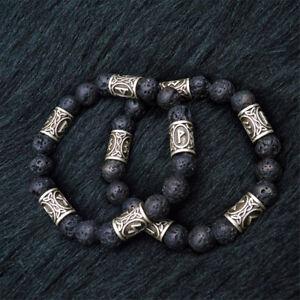 1pc-Nordmaenner-Wikinger-Rune-Abstandhalter-Lavastein-Perlen-Armband-Herren-Damen-Cuff-Schmuck