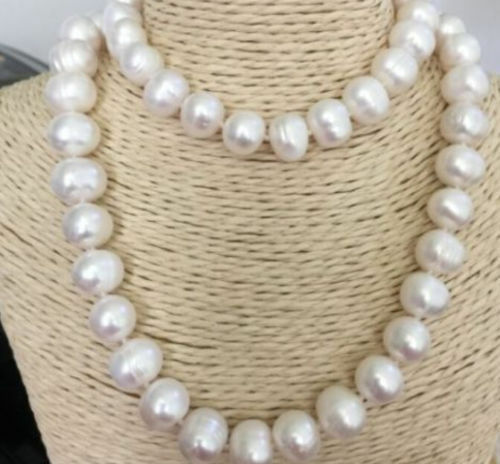 """31"""" 100/% NATURAL 12-13MM WHITE SOUTH SEA BAROQUE PEARL NECKLACE"""