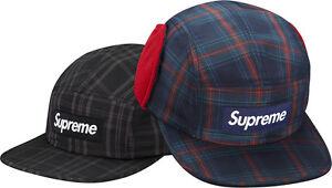 8bacb60c5a052 SUPREME Fleece Lined Ear Flap Camp Cap Black S M Box Logo hoodie ...