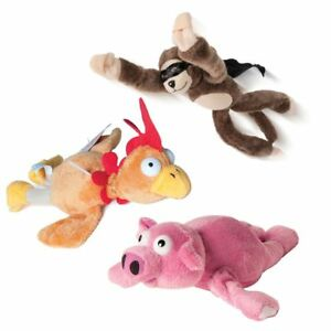 Details about Kids Novelty Slingshot Catapult Flying Stuffed Screaming  Farmyard Animal Toy