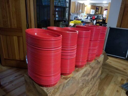 "Lot of 50 TableCraft 1076R Red 10-1//2/"" Oval Chicago Platter Basket"