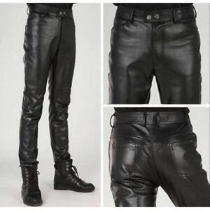 Hombres Pantalones Slim Fit Negra Moda Corea Pantalones Ajustados De Moda Ebay