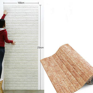 3d brick impermeable adhesivo pared autoadhesivo paneles papel pintado 100 250cm ebay - Papel pared autoadhesivo ...