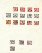 Danzig stamp collection 1923 inflation issues mint & used