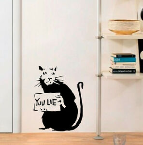 Banksy-Rat-Stencils-Paint-your-own-Banksy-You-Lie-Rat-Reusable-Stencil-Wall-Art